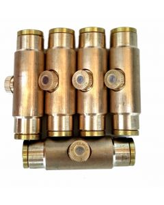 "3/8"" Brass Slip-lock Misting Coupling with Mist Nozzle (5)"